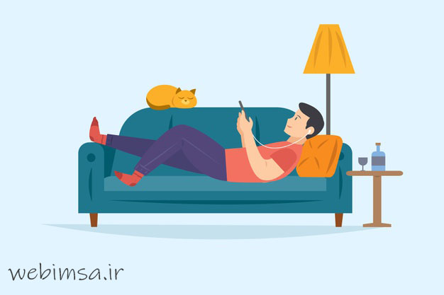 شما میتونید در منزل خود در حالی که در استراحت هستید با گوشی موبایل  اینستاگرام یا سایت